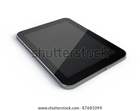 Touchscreen Tablet PC - stock photo