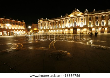 Toulouse Capitol, famous place in Toulouse, France - stock photo
