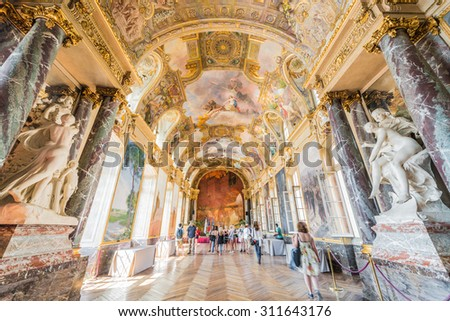 TOULOUSE, FRANCE - JUNE 02 2015: The Capitole, houses the city hall, as well as the Theatre du Capitole in Toulouse, Midi Pyrenees, France. - stock photo