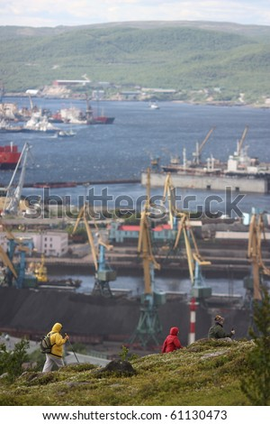 tourism in murmansk - stock photo