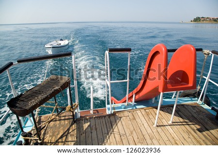 Tourist boat - stock photo