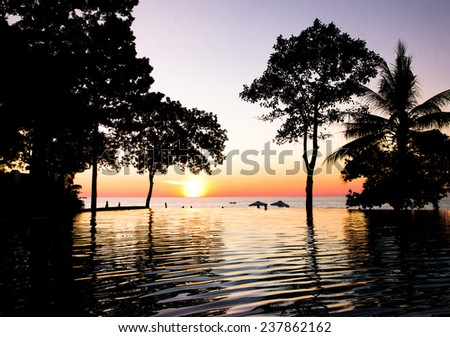 Tourist Dream Evening Relaxation  - stock photo