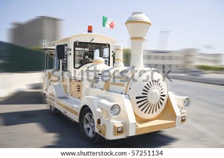 Tourist Fun Train. - stock photo