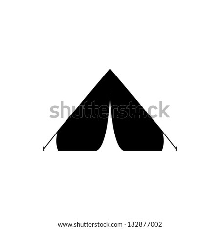 Tourist tent - icon - stock photo