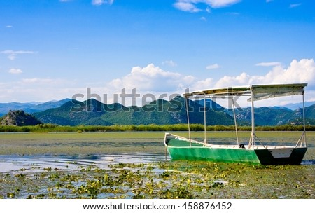 Touristic Boat in Skadar Lake National Park, Montenegro