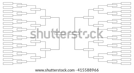 tournament quarter-finals of the championship table on sports with a selection of the finalists and the winner. vector illustration - stock photo