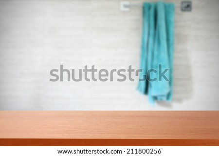 towel and desk  - stock photo