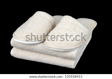 Towel and slipper