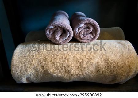 towel  in room - stock photo