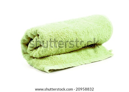towel isolated on a white background