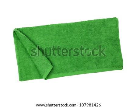 Towel isolated on white background - stock photo