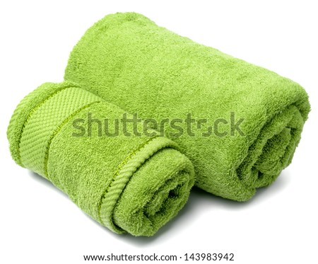 towel roll on a white background