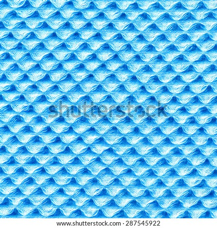 Towel Texture. Light Blue Textile Pattern - stock photo