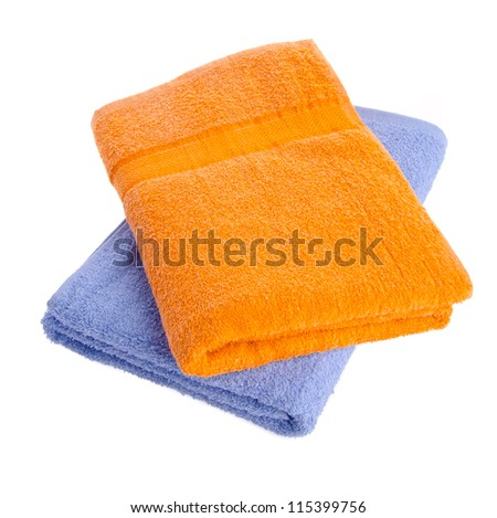 towel, towel on the background. - stock photo