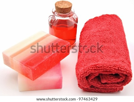 Towels and soap