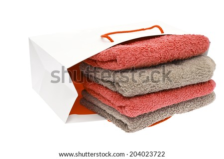 Towels Isolated on White Background