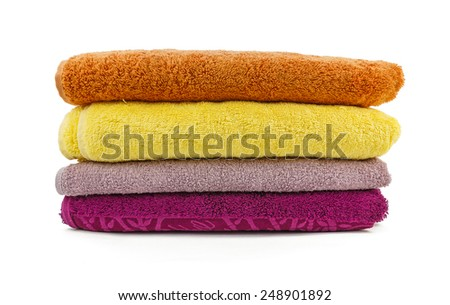 towels on a white background