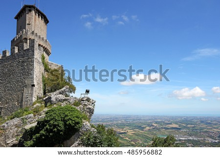 tower and fortress San Marino Italy