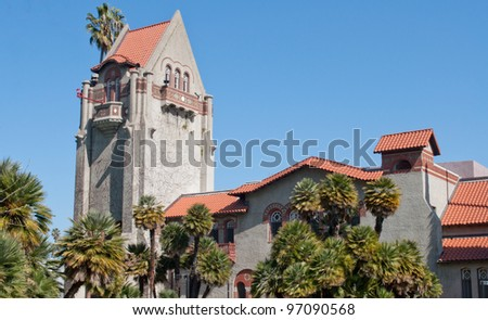Tower at San Jose state University - stock photo