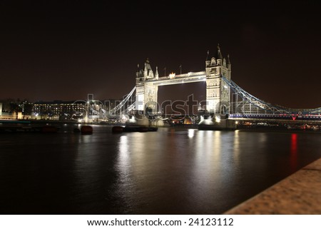 Tower Bridge by Night in London, UK