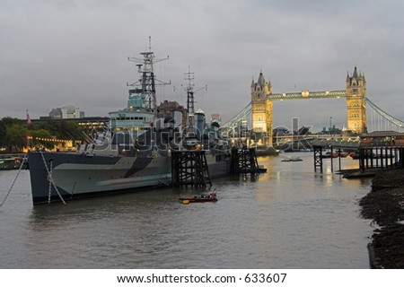 Tower Bridge HMS Belfast
