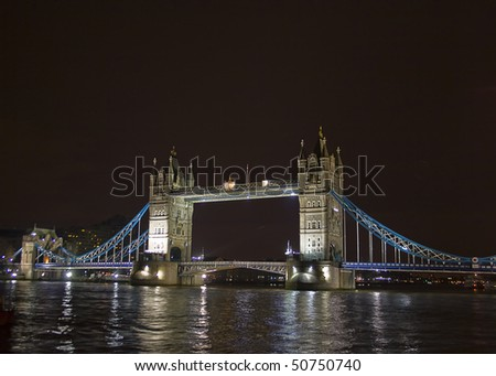Tower Bridge in night lights