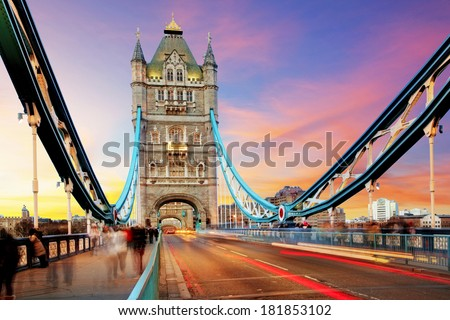 Tower bridge - London - stock photo