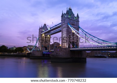 Tower bridge London at Thames river travel destination