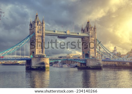 Tower Bridge ,London,UK - stock photo