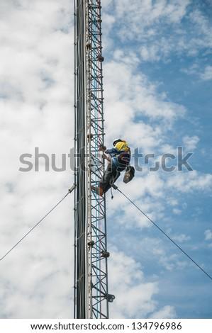 Tower climber - stock photo