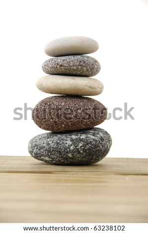 Tower color stones (zen) - stock photo