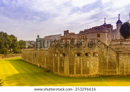 Tower hill, London. - stock photo