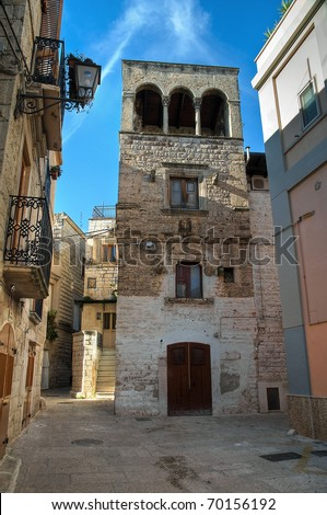 Tower-house. Bitritto. Apulia.