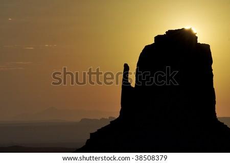 Tower in Monument Valley, Navajo Tribal Park, Utah, Usa - stock photo