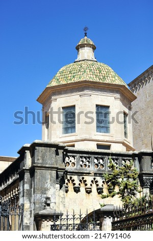Tower in Tarragona city, Spain. - stock photo