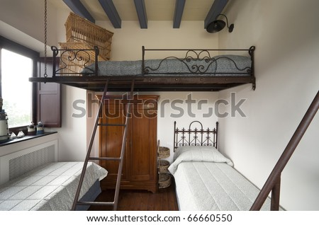 tower, luxury residential apartments, bunk bed - stock photo
