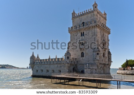 Tower of Belem in Lisbon Tagus Estuary