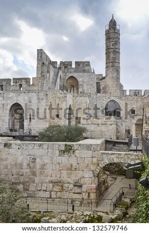 Tower of David, Jerusalem, Israel - stock photo