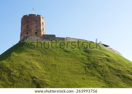 Tower of Gediminas. Vilnius. Lithuania. - stock photo