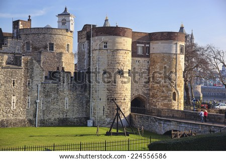 Tower of London, Tower Hill London in England, United Kingdom - stock photo