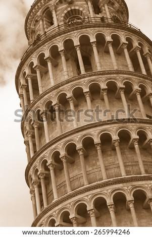 Tower of Pisa, Italy - stock photo