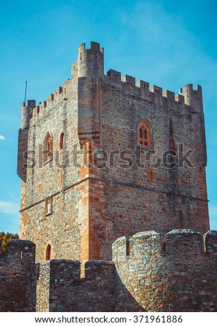 Tower of the fort castillo of Braganza. - stock photo