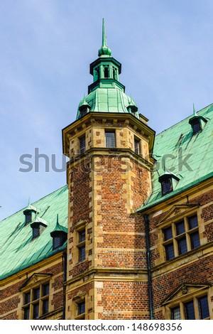 Tower of the Frederiksborg Palace, Denmark - stock photo