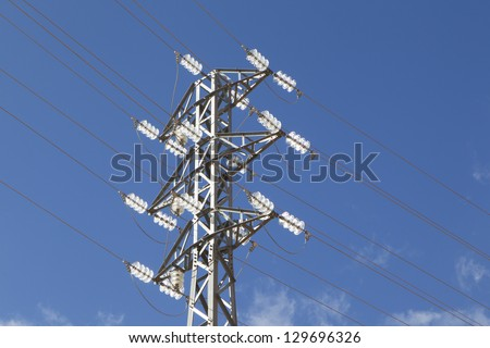 tower with power lines