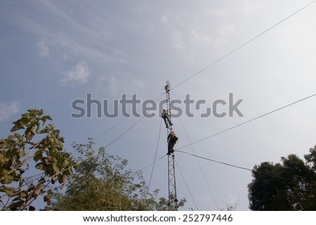 Tower worker - stock photo