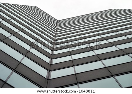 Towering business building - stock photo