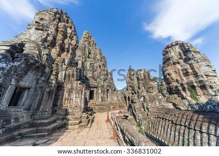 Towers and upper terrace of Prasat Bayon temple