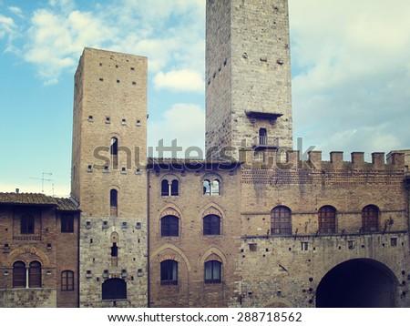 Towers of  San Gimignano. Tuscany, Italy - stock photo