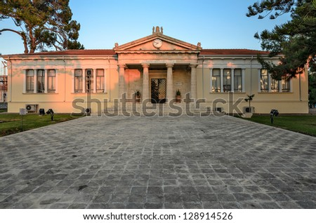 Town Hall in Paphos city on Cyprus - stock photo