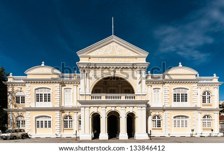 Town Hall in Penang - stock photo
